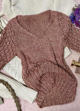 Оригинальный свитер, металлик