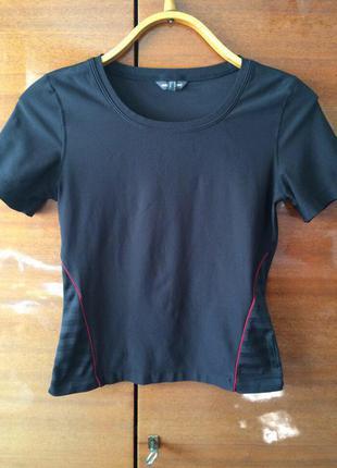 Крутая черная футболка mexx sport для спорта фитнеса оригинал