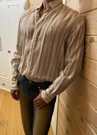 Рубашка tommy hilfiger, лён