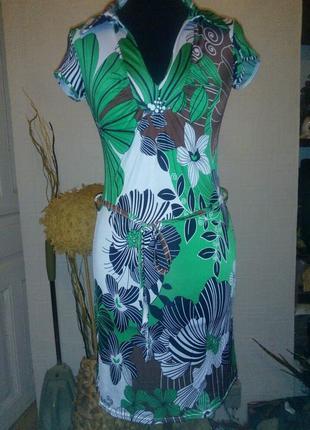 Модное яркое платье naf naf