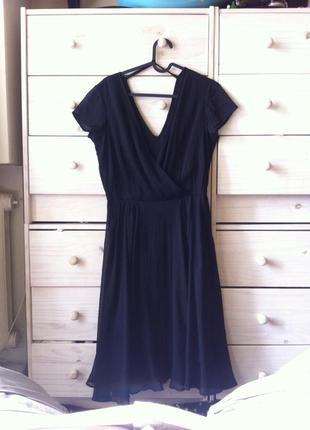 Чёпное миди платье полусолнце uk12 asos вискоза+ шифон