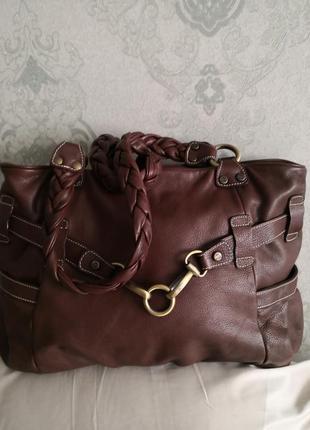 Vip! mега стильная большая кожаная сумка avorio, италия🌹🌹💣👜💥🔥