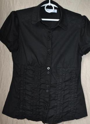 Блуза -рубашечка с рюшами