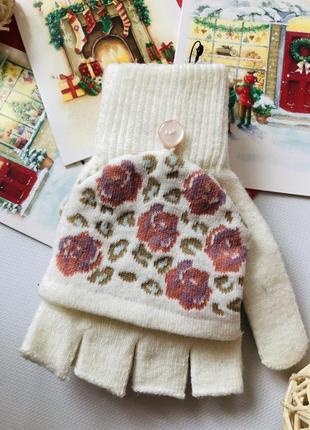 Primark милі теплі рукавички мітенки one size