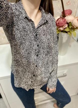 Блуза из плотного шифона на пуговицах new look