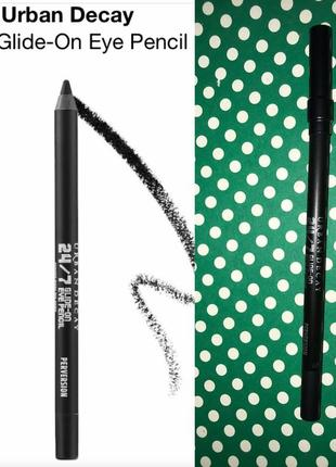 Водостойкий, черный матовый карандаш для глаз urban decay 24/7 полноразмер