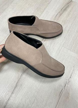 Удобные туфли кожа замш зима весна