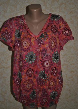 Хлопковая фирменная блуза debenhams