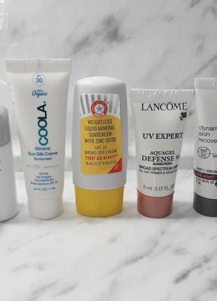 Набор крем для лица shiseido солнцезащитный spf lancome