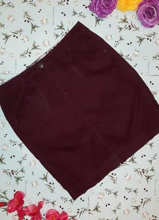 🌿1+1=3 стильная короткая юбка - карандаш до колена цвета баклажан cecil, размер 48 - 50