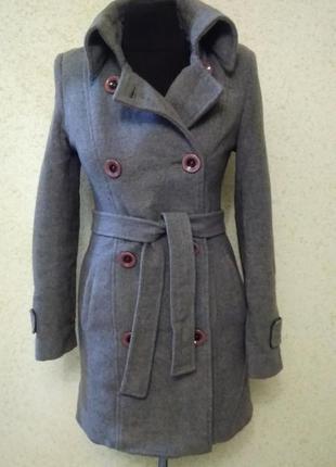 Теплое зимнее пальто, шерсть