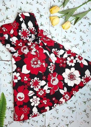 🌿1+1=3 нарядный цветной сарафан платье бюстье до колен в цветах e-vie, размер 44 - 46
