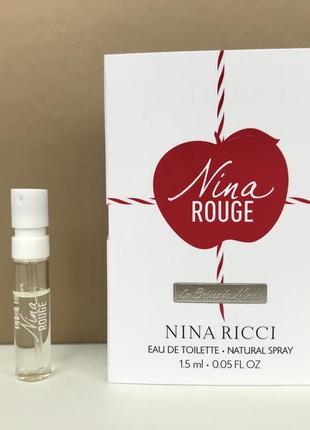 Nina ricci nina rouge туалетная вода пробник