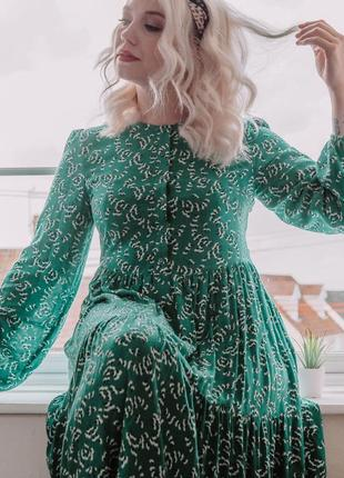Обалденное длинное платье в цветочный принт