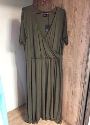 Новое вискозное  платье asos цвета хаки 48 размера