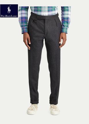 Ralph  lauren шерстяные фланелевые брюки со складками