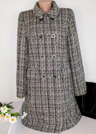Брендовое демисезонное пальто с карманами bhs бангладеш акрил