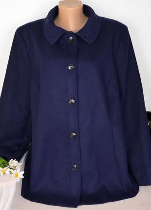 Мягкое демисезонное пальто с карманами anthology вьетнам большой размер этикетка
