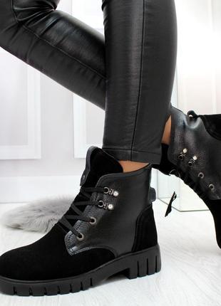 Ботинки женские натуральная кожа зимние качество топ