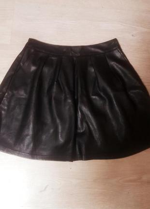 Стильная кожаная юбка(эко)