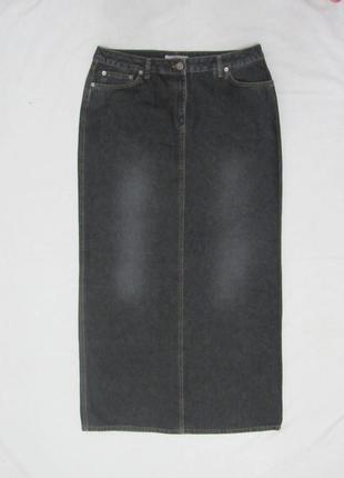 """S.oliver длинная джинсовая юбка """"в пол"""" размер 40 l"""