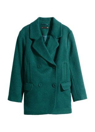Шерстяное пальто h&m. оверсайз. р. 12, подойдёт и на 10 р(36).