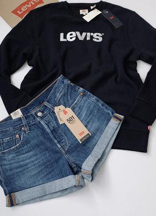 Шорты женские  levi's levis 501 mid rise левис оригинал