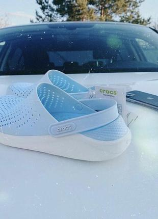 Crocs literide голубые,кроксы голубые,крокси голубые.