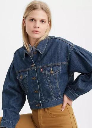 Куртка джинсовая женская levis premium original левис. оригинал
