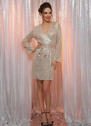 Новогоднее золотое серебряное вечернее платье на корпоратив праздник
