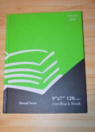 Записная книжка, блокнот, тетрадь в линию в твердой обложке 120 листов