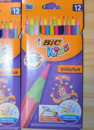 Карандаши разноцветные bic evolution