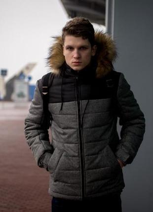 Зимняя куртка alaska+перчатки в подарок