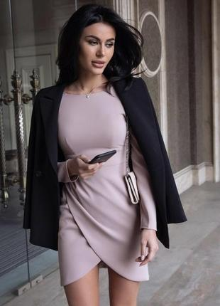 Нюдовое платье от marsego