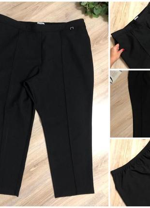 Базовые черные брюки штаны капри бриджи кюлоты