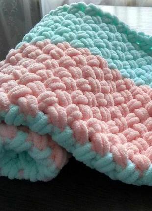 Нежнейший плюшевый плед для малышей .подойдет в коляску,кроватку,на выписку