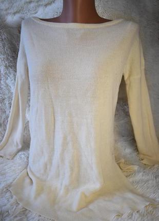 Sale 50 % zara легкий свитерок машинной вязки, разрез сбоку