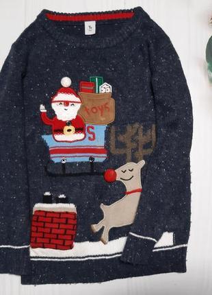 Новогодний свитер tu музыкальный 5-6 лет