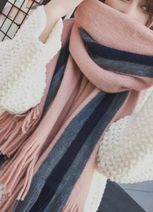 Стильний теплий шарф, накидка, палантин, платок 781