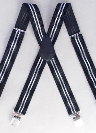 Широкие мужские подтяжки paolo udini черно-белые