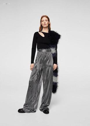 Шикарные брюки с искрой  pn1916152 mango