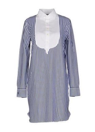 Контрастное платье-рубашка в полоску от polo ralph lauren