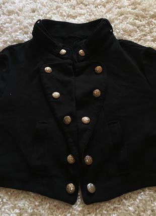 Классный пиджак кофта болеро new look с пуговицами