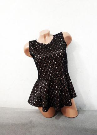 Кофта баска кружево ажур майка футболка блуза