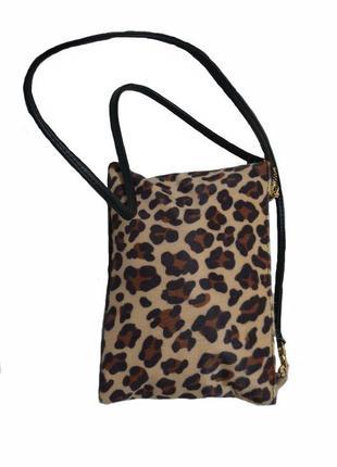 Женская леопардовая сумочка клатч код п38349