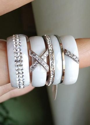 Колечко керамическое керамика кольцо белое2 фото