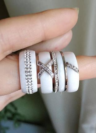 Колечко керамическое керамика кольцо белое