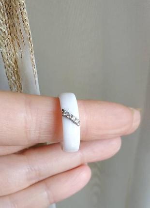 Колечко керамическое керамика кольцо белое3 фото