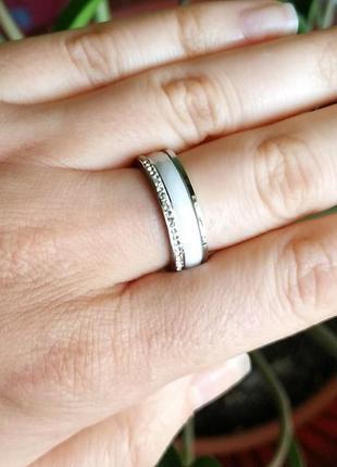 Колечко керамическое керамика кольцо белое5 фото