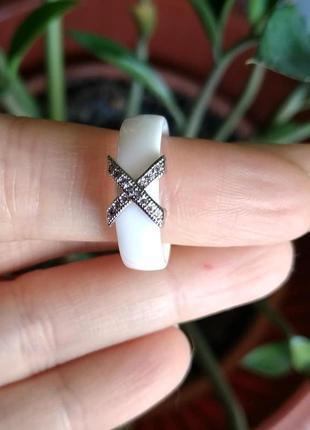 Колечко керамическое керамика кольцо белое6 фото